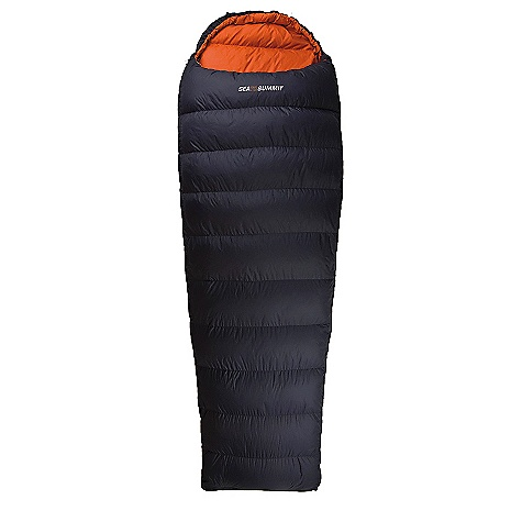 Camp and Hike On Sale. Free Shipping. Sea to Summit Trek Series - TK I Sleeping Bag DECENT FEATURES of the Sea to Summit Trek Series - TK I Sleeping Bag Comfort temperature rating: 5degC / 41degF Lower limit temperature rating: 0degC / 32degF Extreme temperature rating: -15degC / 5degF Tapered rectangular 2D PermaShell DWR shell fabric Differential cut shell with 3D side walls 60/40 fill ratio 7in. baffles + Side block baffle Zip draft tube with anti-snag Cushioned internal hood drawcord with dual adjustment 2 way YKK #5 zips with separate foot zip Large sized internal zip pocket. Includes lightweight Ultra-Sil compression bag Mesh storage cell and laundry bag. The SPECS Down: 650 Loft 85/15 Premium Down Seasons ratings: Indoor/Summer Suggested use: Backpacking, travel, hiking, camping Compression bag: Small - 10 L to 3.3 L Outer shell fabric: 2D PermaShell 33D nylon with DWR, 342T high-density down proof weave Inner: 40D soft touch lining, 310T high-density down proof weave, 34 fillament soft touch hand feel The SPECS for Regular Fill weight: 12.35 oz / 350 grams Bag weight: 1 lb 13 oz / 830 grams Recommended max height: 6' Internal Dimensions (Chest x Hip x Foot): 59.84in. x 59.05in. x 39.76in. Length / zip options: left or right zip The SPECS for Long Fill weight: 14.11 oz / 400 grams Bag weight: 2 lbs 2 oz / 970 grams Recommended max height: 6'7in. Internal Dimensions (Chest x Hip x Foot): 61.42in. x 59.84in. x 40.16in. Length / zip options: left zip This product can only be shipped within the United States. Please don't hate us. - $179.99