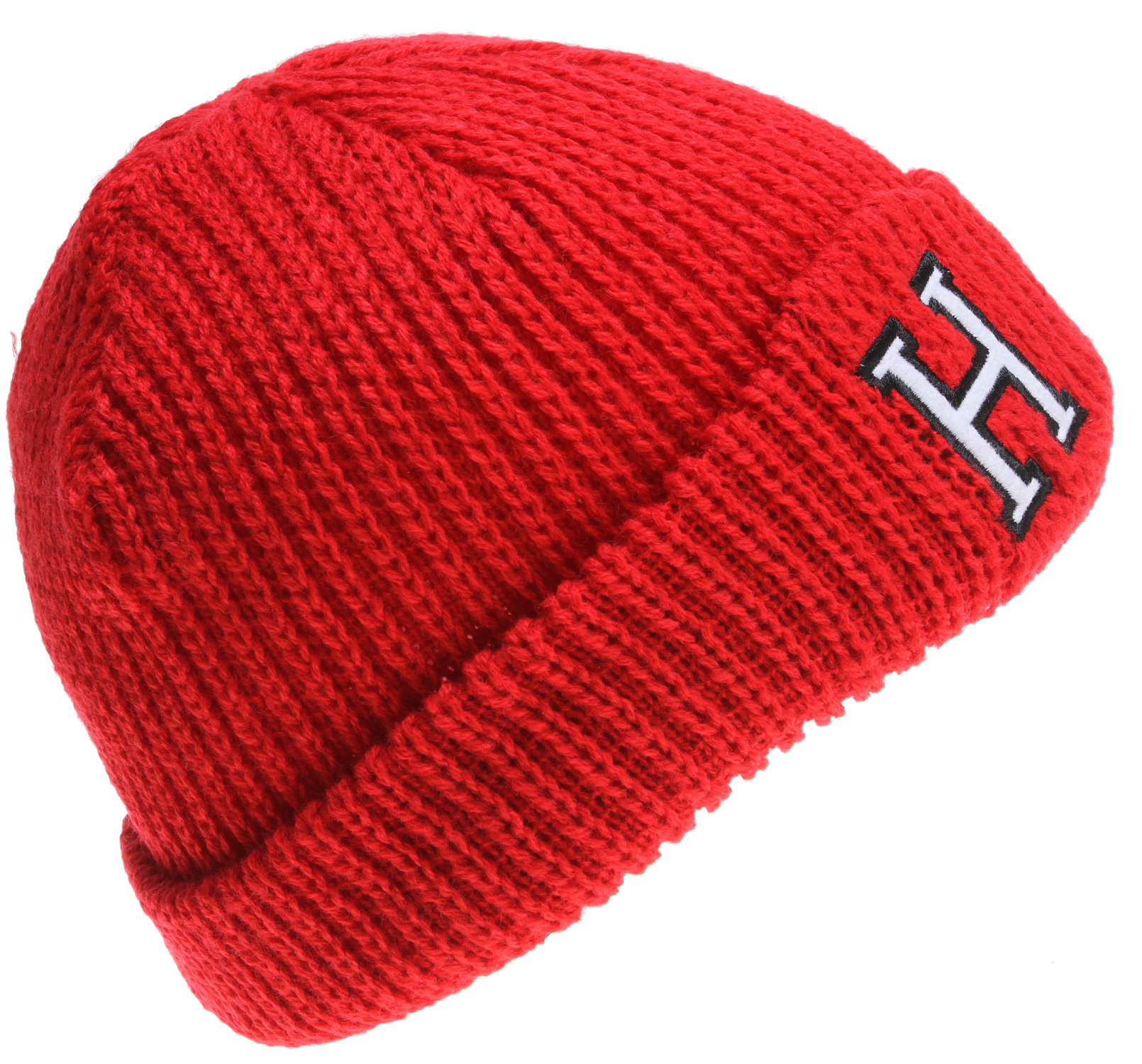 "Key Features of the Holden H Logo Beanie: Double layer beanie with felt ""H"" label detailing on both sides of cuff Can be worn rolled up as cuff style or down as a modern fit beanie 100% Acrylic - $14.95"