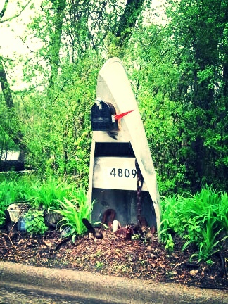 Kayak and Canoe Canoe mailbox