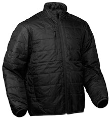 Snowmobile Unique microfiber insulators have remarkable heat trapping ability, windproof and water-resistant, invisible handwarmer zipper pockets, elastic cuffs and hem, packable into the chest zipper pocket