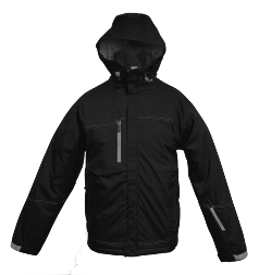 Fishing 2.5 Layer high stretch shadow effect ripstop, critically seam sealed, adjustable hood, hem and cuffs with underarm zippers