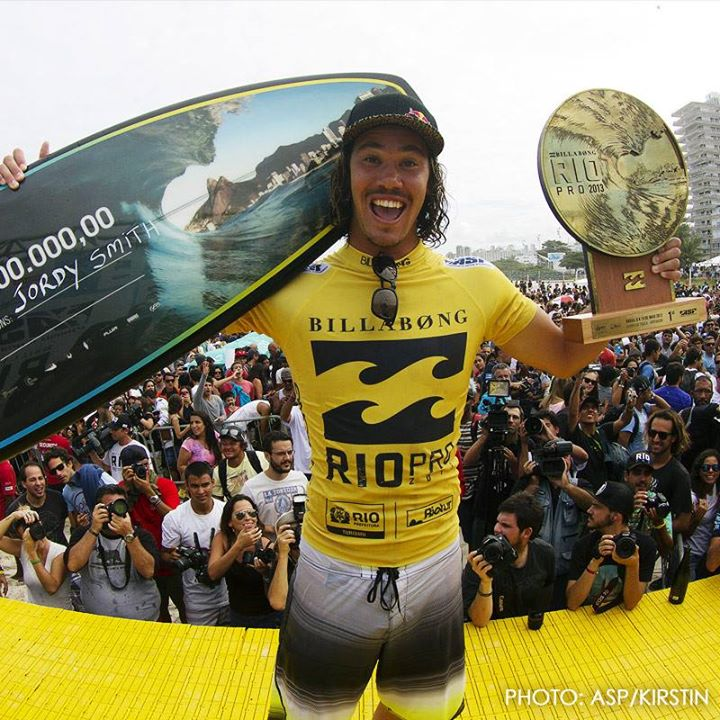Surf Congrats Jordy Smith! Winning the 2013 Rio Pro, and jumping to #2 on the ASP World Tour Surfing! Photo: ASP/Kirstin