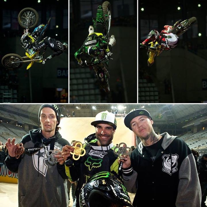 Motorsports The Monster Energy boys are at it again... Sweeping the Best Whip podium at X Games Barcelona!