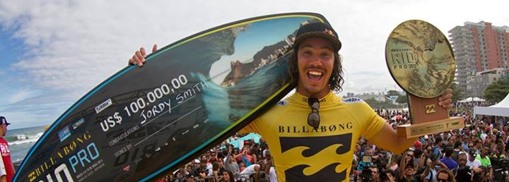 Surf Congrats to Jordy on Winning the Billabong Rio Pro
