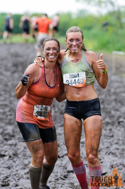 Fitness Tough Mudder and Daughter team.