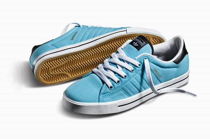 "Skateboard Mark ""The Gonz"" Gonzales's Adicourt in light aqua.   Check the whole Gonz collection here:   http://bit.ly/14kBVpb"