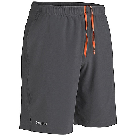 Marmot Men's Stride Short DECENT FEATURES of the Marmot Men's Stride Short Blue Sign Approved Fabric Light Weight, Breathable, Stretch Woven Performance Fabric Ultraviolet Protection Factor (UPF) 30 Interior Brief Quick-Drying and Wicking Stretch for Increased Mobility Elastic waist with Internal Drawcord for Adjustability Interior Key Pocket Reflective Logos The SPECS Weight: 10.9 oz / 309 g Material: 86% Polyester, 14% Elastane Plain Weave 3.6 oz/yd 100% Polyester Mesh 5 oz/yd Fit: Regular Inseam: 9in. - $47.95