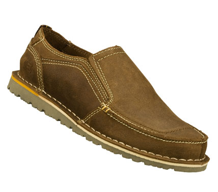Easygoing style and even easier comfort comes in the SKECHERS Relaxed Fit(R): Golson - Belton shoe.  Smooth oiled leather upper in a slip on casual moc toe loafer with stitching and overlay accents. Memory Foam insole. - $59.00