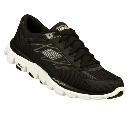 Fitness The next generation of Skechers GOrun Ride is here.  Skechers GOrun Ride 2 offers a cushioned running experience with our innovative midfoot strike technology. - $75.00