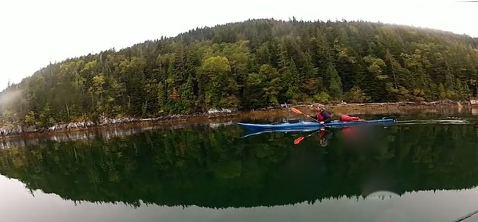 Kayak and Canoe Sea kayakers explore Great Bear Rainforest, wilderness of British Columbia.  Article by David Strege