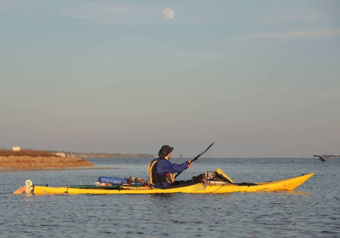 Kayak and Canoe Kayaker completes 4,000-mile, nine-month journey.  Daniel Alvarez paddles 20 miles per day from Minnesota to the Florida Keys.  Article by David Strege