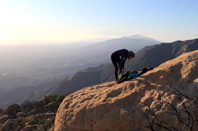 Camp and Hike Break a sweat on Santa Barbara's Cathedral Peak hike.  A how-to guide on the steep yet rewarding hike.  Article by Johnie Gall