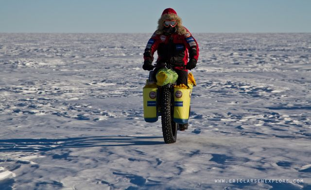 Fitness Polar explorer falls short of South Pole cycling goal but sets world record.  Article by David Strege