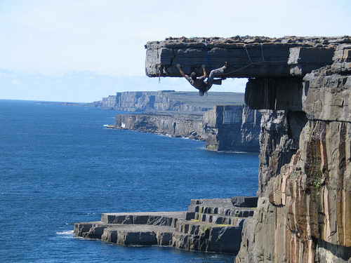 Climbing aran islands cliff climbing