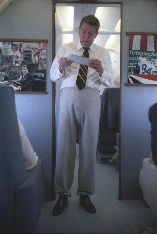 Entertainment Reagan + Sweatpants + Air Force One