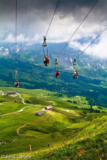 Extreme Swiss Alps Zipline anyone?! Count us in!