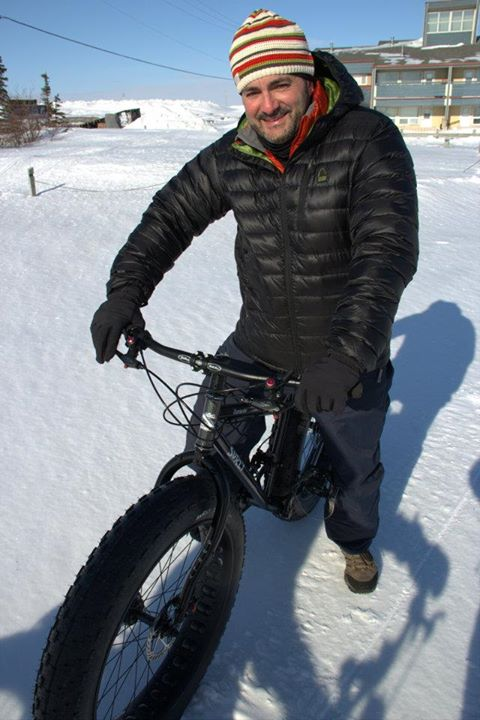 Fitness Chicking out the new Surly Moonlander snow & ice bike!