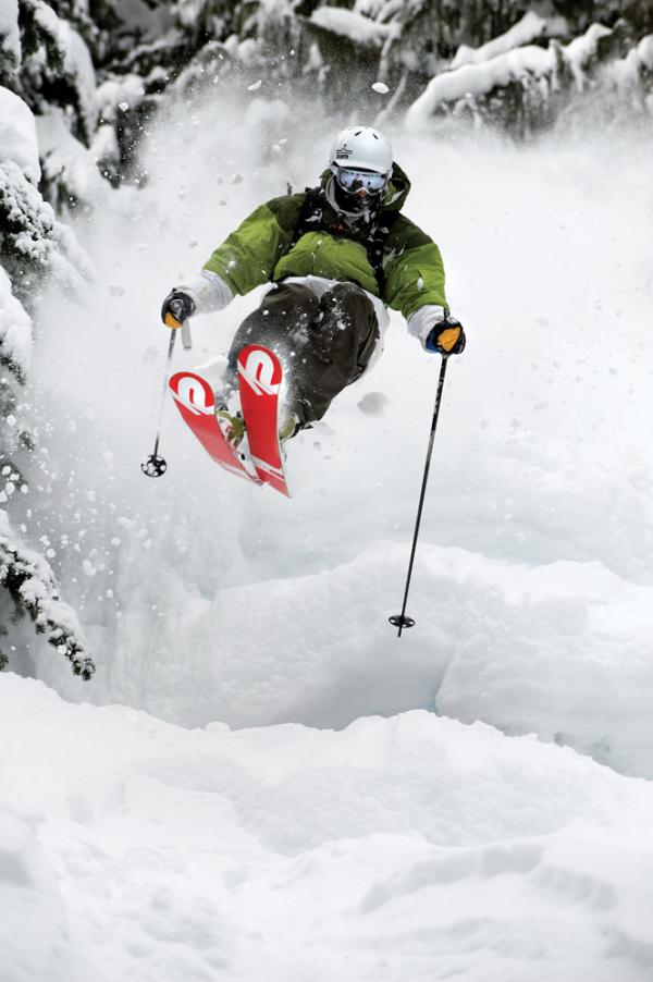 Ski Bryce Phillips at Crystal Mountain, Washington