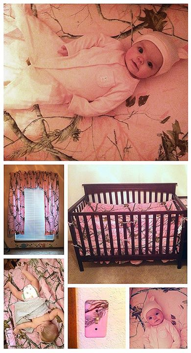Hunting These are photos of Addison Olivia and her bedroom/nursery submitted by her mom Marlea White. Marlea tells us that Addison is probably thinking that you can't see her while decked out in her Realtree AP Pink camouflage!
