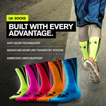 Fitness Lighter. Brighter. Better. Shop UA Socks here: http://bit.ly/11Ggn9j