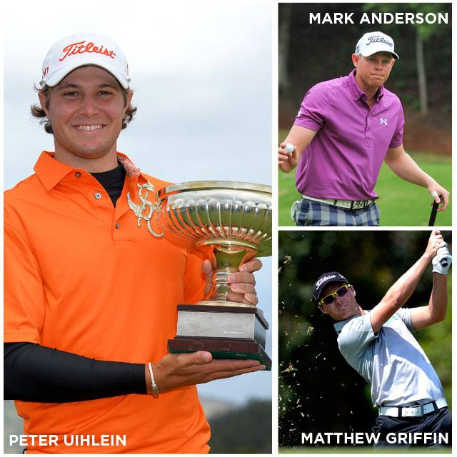Golf Congratulations to Titleist Brand Ambassadors Peter Uihlein, Mark Anderson, Matthew Griffin, and Jorge Fernández-Valdés as they combine for a 4-win weekend for Titleist golf ball players across the worldwide professional tours.