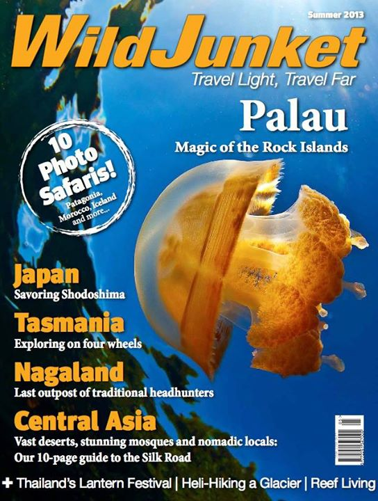 Scuba Our NEW summer issue is out now! This issue features a cover feature on the Micronesian nation of Palau, a photo essay of the stunning Yi Peng Festival in Thailand, dispatches from Tasmania, and a story on the unchartered territories of Nagaland.