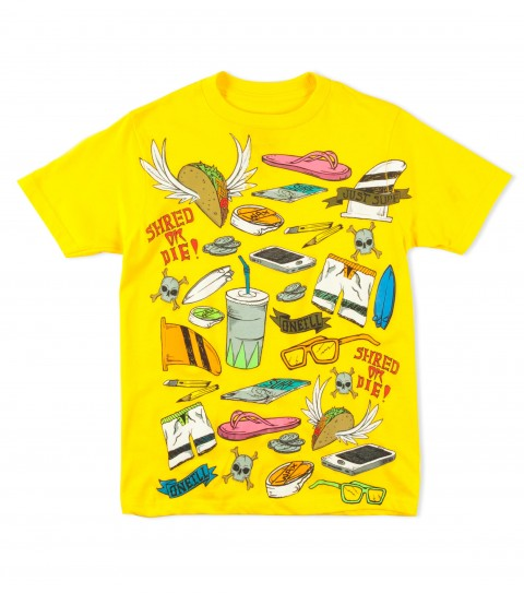 Surf O'Neill Boys Elementary Tee.  100% Cotton.  20 singles classic fit tee with softhand screenprint. - $9.99
