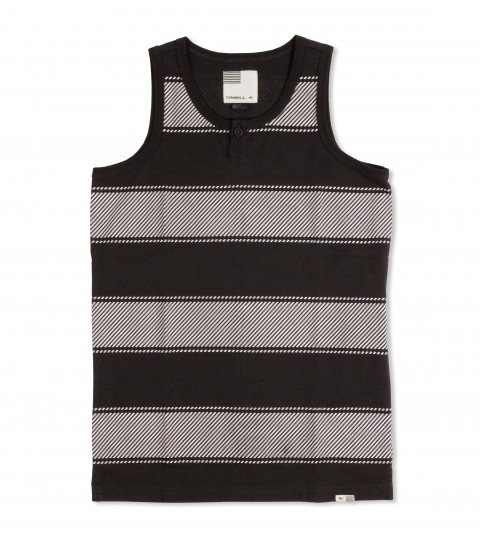 Surf O'Neill Boys Huevos Rancheros Tank.  100% Cotton jersey.  Printed stripe tank with garment wash. Standard fit with collar placket and logo labels. - $12.99