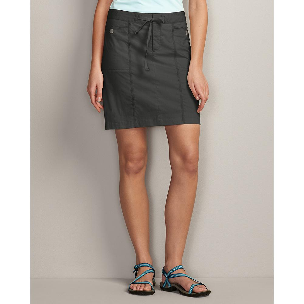 "Eddie Bauer Rialto Beach Skirt - Sporty style you can take to the beach, cafe or trail. Breathable fabric wicks away moisture, dries quickly and provides UV 40 sun protection. Low-rise drawcord waist and four snap pockets. Cotton/nylon/spandex. Length: 19 3/8"". Imported. - $19.99"