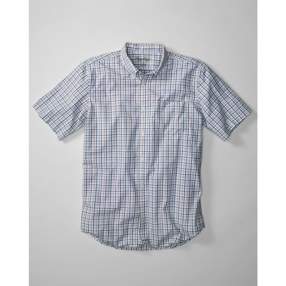 Eddie Bauer Classic Fit Legend Wash Poplin Shirt - Our exclusive Legend Wash makes the breathable cotton poplin in this shirt exceptionally soft and comfortable. It also reduces the risk of shrinkage. A warm-weather classic, the short-sleeve button-down goes anywhere, does virtually anything. - $14.99