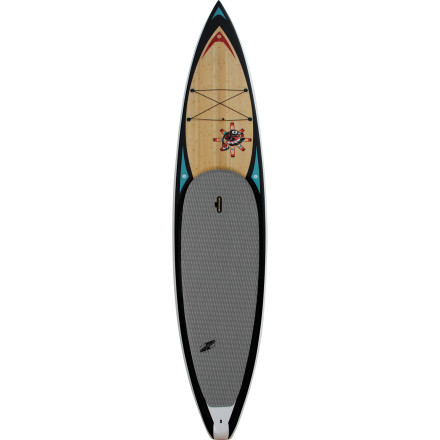 Kayak and Canoe Get out and explore on the award-winning Boardworks Raven Stand-Up Paddleboard. Designed for effortless glide and reliable stability in flat or choppy water, the Raven is one of Boardworks' most popular models and an excellent all-purpose board for touring, fitness, and recreational racing. The flat rocker shape provides a stable ride and responsive feel that paddlers of all abilities can appreciate, and the displacement hull improves glide, making it ideal for long tours across big bays or cruises down deep, docile rivers. Lightweight TEC-V construction makes the Raven incredibly strong for its weight, and it comes complete with a beautiful bamboo veneer and Native American-inspired graphics on the deck. - $1,104.11