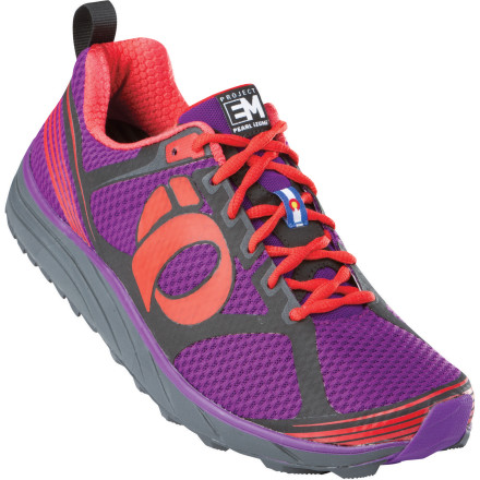 Fitness Step onto the trail with a little extra stability and protection when you're wearing the Pearl Izumi Women's EM Trail M 2 Trail Running Shoe. As you float down rock-peppered trail and descend steep gullies, this stability shoe helps your foot stay centered by utilizing a combination of soft foam cushioning and a bi-lateral stability support located under your midfoot. One of the most unique features of this shoe is the E:Motion midsole, a bit of engineering that gives this shoe a dynamic drop (heel-forefoot height) that's lower at initial contact and higher when you roll off your toes. E:Motion results in a more fluid transition from heel to toe and a more natural stride when you're picking your way through technical, off-road terrain. For training, racing, or everyday running, this stability shoe helps you flow across miles of trail without skipping a beat. - $124.95