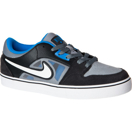 Skateboard Feel every flick and catch as you knock out every trick on your list with the Nike Men's Ruckus LR 2 Vulc Skate Shoe. The Phylon midsole is lightweight and super cushy but won't sacrifice board feel or sole flex so you can still feel every little movement under foot. Suede in the upper is placed where you need it for board control, and mesh panels keep your feet cool so you have one less thing on your mind when you're trying to check off that last trick. - $67.46