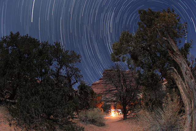 Camp and Hike Squaw Flat Camp Star Trails 2