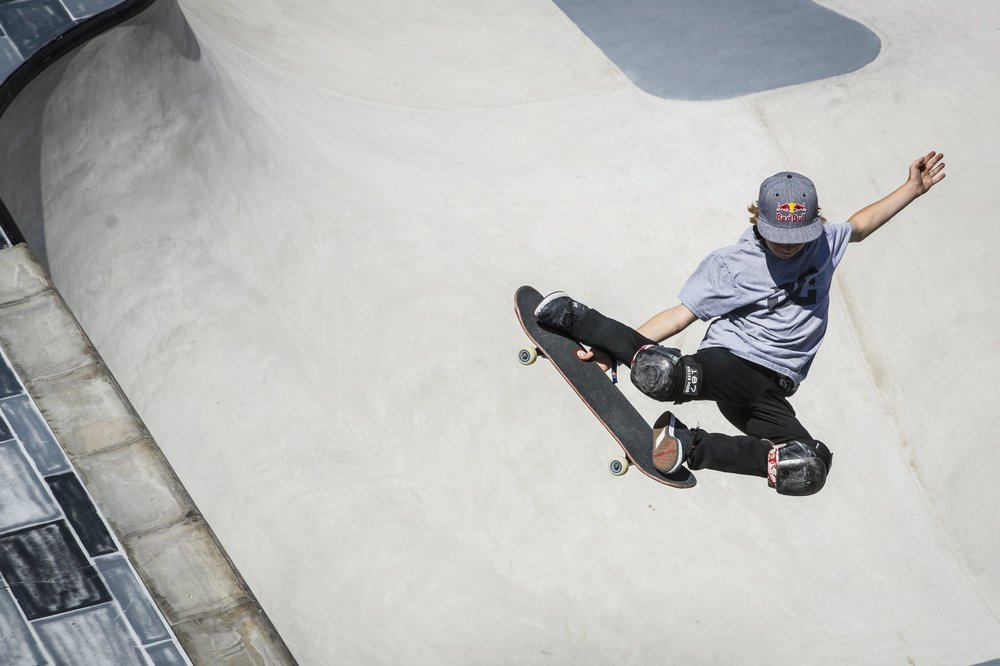 Skateboard 13-year-old Tom Schaar, who finished fourth in the Big Air competition, was also in action during the Park final on Sunday.