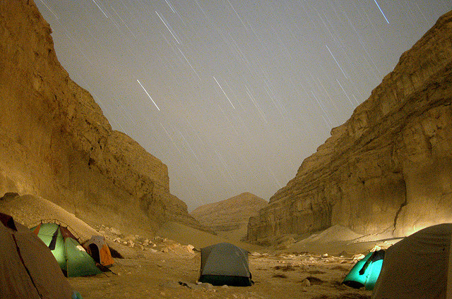Camp and Hike Raining stars on camp