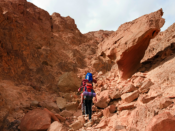 Camp and Hike Israel National Trail in Timna National Park, Israel