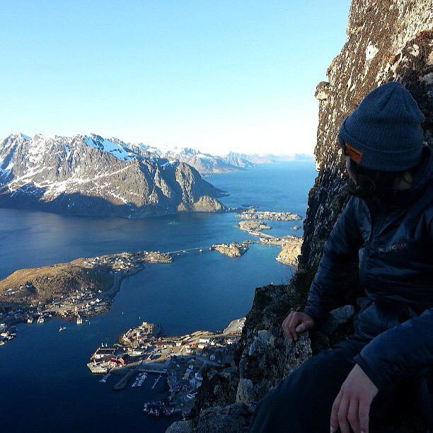 "Camp and Hike ""Pretty sweet views of Reine Fjord here in Lofoton, Norway"" - Backcountry Athlete Jackie Paaso"