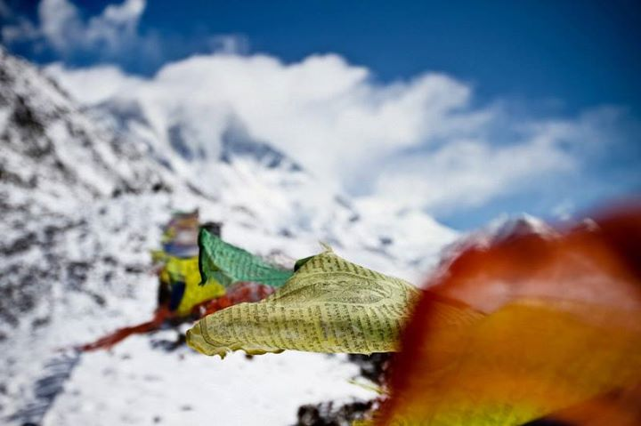 Camp and Hike Prayer flags are hung by trekkers and locals with the belief that the wind carries their prayers as the flags flap in the wind.