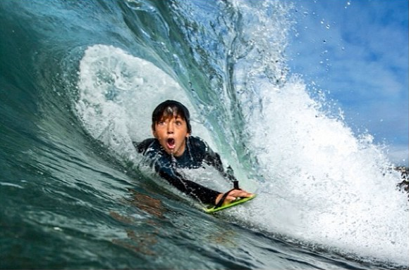 Surf The Ultimate Grom Barrel Face! 