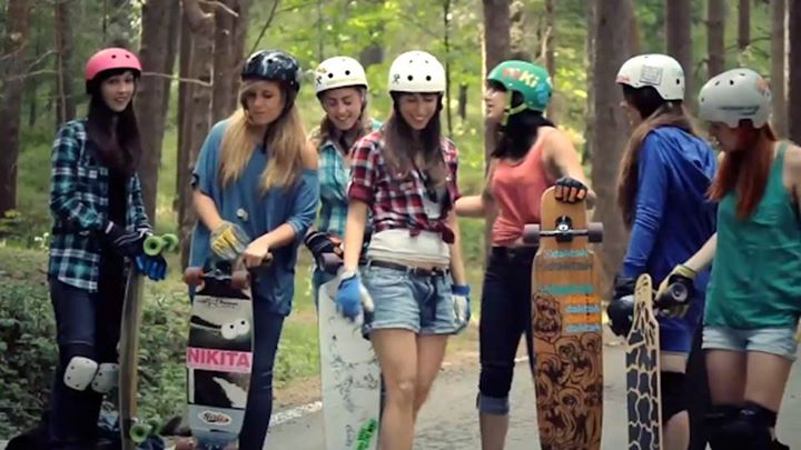 Skateboard Carving the Mountains with the Longboard Girls Crew.  Check out this ever-popular video...these girls shred!  VIDEO: www.thrillon.com/tag/carving-the-mountains-longboard