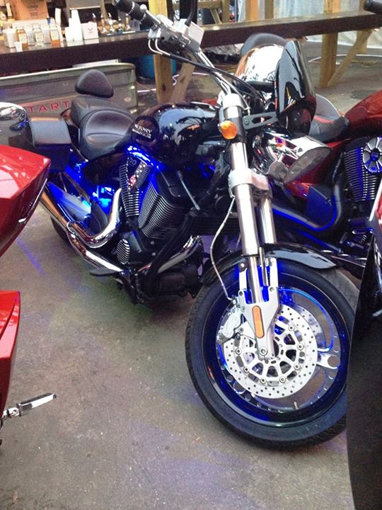 Auto and Cycle Bike at our Victory Bike Night at the Spokes and Bones saloon.