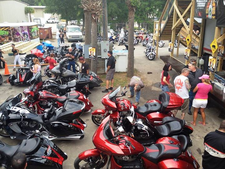 Auto and Cycle Great turn out at Victory Bike Night during Myrtle Beach Bike Week.