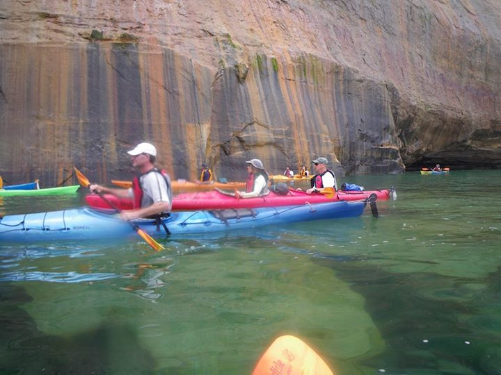 Kayak and Canoe Forecast is for sunny skies and light winds this coming weekend. Plan a kayaking trip at the Pictured Rocks. All ages and all skill levels. www.paddlingmichigan.com