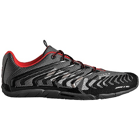 Camp and Hike Free Shipping. Inov 8 Bare-X 180 Shoe DECENT FEATURES of the Inov 8 BARE-X 180 Shoe Weight: 6.4 oz / 180 g Fit: Anatomic Upper: Synthetic, TPU Lining: Mesh Footed: 3 mm Shoc Zone: 0 Differential: 0 mm Sole: BARE-X Compound: Sticky - $109.95