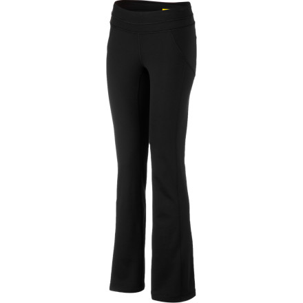 Fitness Twist like a pretzel, and fold like an taco in the four-way stretch Lole Women's Lively Pant. And stay cool and dry in its breathable, sweat-wicking fabric and supportive mesh lining. A high rise, fitted hips, and flared legs deliver flattering shape and all-around movable comfort; the crotch is lined for added mobility and a seamless feel. And when the late nights yield to early mornings or you're on the road, this wonder pant dries overnight, so there's no downtime. - $104.95
