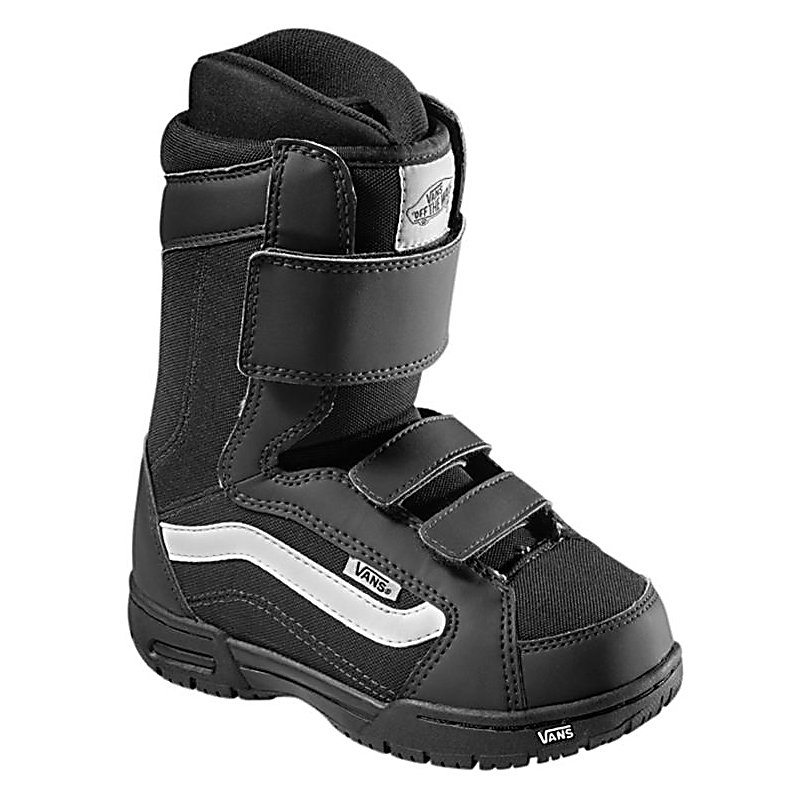 Snowboard Vans Mantra Kids Snowboard Boots - Hate lacing up your childs boots? Well don't worry the Vans Mantra Youth Snowboard Boots take that pain out of your life with the Three Strap Closure that makes it easy to get your child in and out of the boots quick and easy. These boots also feature a Pleasure cuff that was designed to allow the cuff of the boot to adjust to your childs specific calf size to keep the boots comfortable and forgiving on their feet. The pro flex outsole on the Mantra boots feature a waffle tread pattern that will give your child the traction they need to stay upright in slippery and wet conditions. . Material: TriFit X Thermal Liner, Lacing Style: Quick Lace, Recommended Use: All-Mountain, Removable Liner: Yes, Flex: Stiff, Warranty: One Year, Intuition Liner: No, Brand Lacing Style: Three Strap Closure, Skill Range: Beginner - Advanced Intermediate, Model Year: 2012, Product ID: 274000, Gender: Kids, Skill Level: Beginner - $49.95