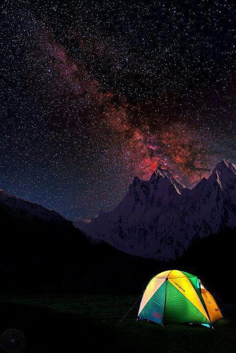Camp and Hike A magical night over Nanga Parbat, The ninth highest peak in the world.