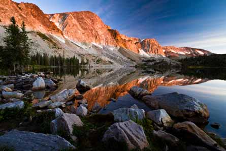 Camp and Hike Sunrise on the Snowy Range Mountains, Wyoming