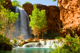 Camp and Hike Havasu Falls Hiking Tours is 10 miles but mules carry the gear.  Arrange a guided trip @ www.wildlandtrekking.com